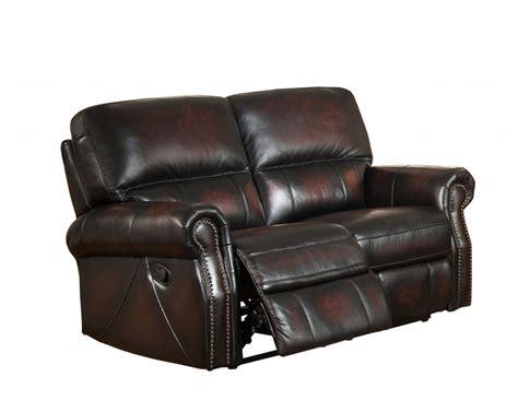 brooklyn burgundy lay flat reclining loveseat  top grain
