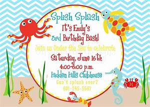 Under the Sea birthday invitation $12 00, via Etsy