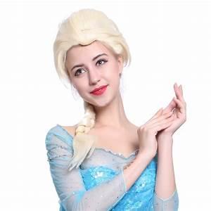Elsa Zopf Flechten : frozen snow queen princess elsa 65cm zopf damen kost m per cke karneval 2015 ebay ~ Frokenaadalensverden.com Haus und Dekorationen