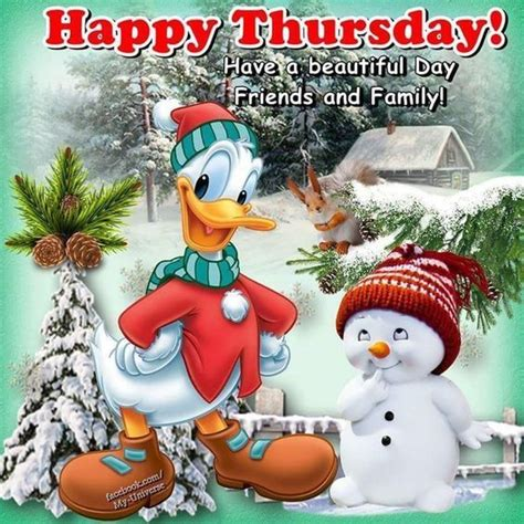 donald duck happy thursday winter quote pictures