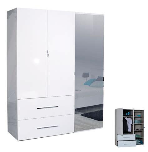 armoire pas cher first 3 portes avec miroire et tiroires