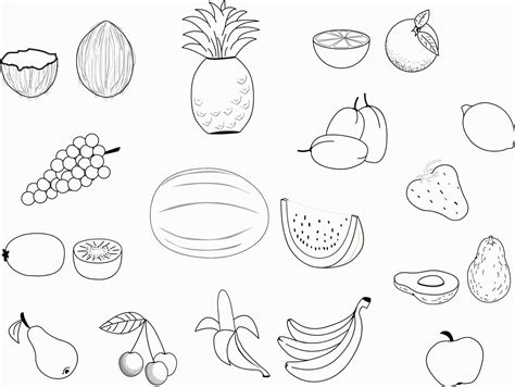 Pencil Of Fruit Basket Coloring Pages Sketch Coloring Page