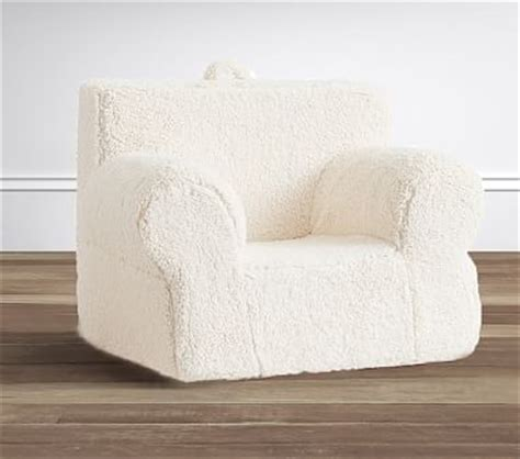 ruffle anywhere chair slipcover only sherpa oversized anywhere chair pottery barn