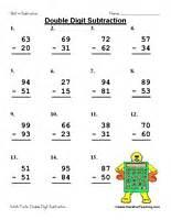 sixth grade math problems digit subtraction worksheet teaching