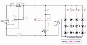 Automatic Solar Power Led Light - Theorycircuit