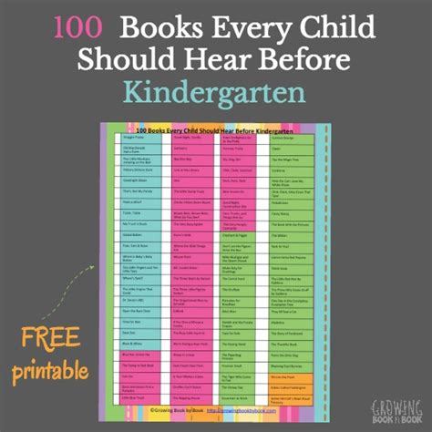 101 books to read to before kindergarten 100 | books to read to kids