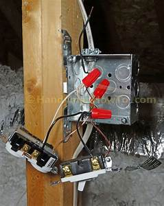 Attic Light And Outlet Junction Box Wiring Connections