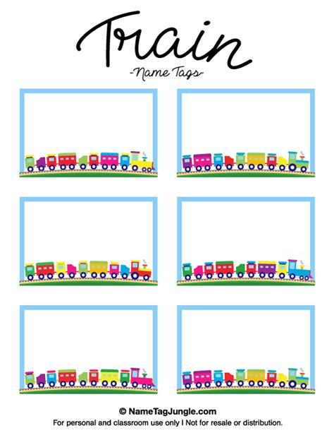 Free Printable Train Name Tags The Template Can Also Be