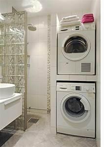 Lave Linge Petit Espace : 1001 id es pour am nager une petite salle de bain des ~ Premium-room.com Idées de Décoration