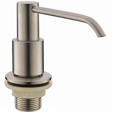 stainless steel sink soap dispenser commercial brushed nickel stainless steel kitchen sink