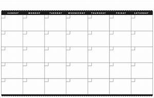 6 best images of month at a glance blank calendar With month at a glance blank calendar template