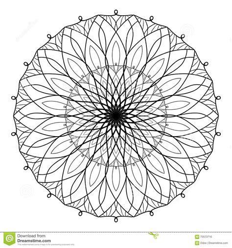 vector antistress coloring book  geometric mandala