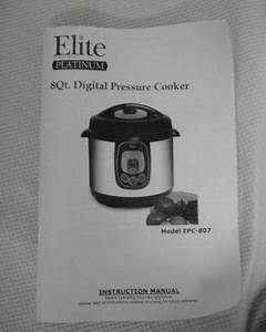 Elite Platinum 8 Qt  Digital Pressure Cooker    Model Epc