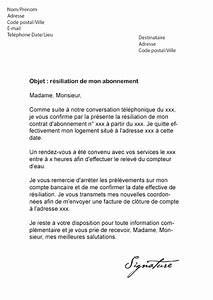 Demande De Raccordement Edf : modele lettre resiliation eau document online ~ Premium-room.com Idées de Décoration