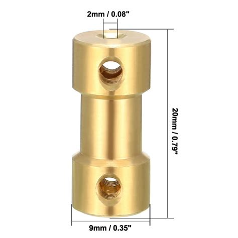 uxcell high quality pcs shaft coupler mm  mm connector adapter  thread gold tone diy
