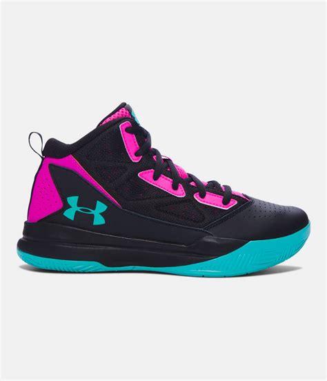 girls grade school ua jet mid basketball shoes