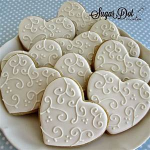elegant white on white so pretty for a wedding With decorated sugar cookies for weddings