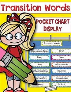 Transition Words Pocket Chart Display By Teaching With