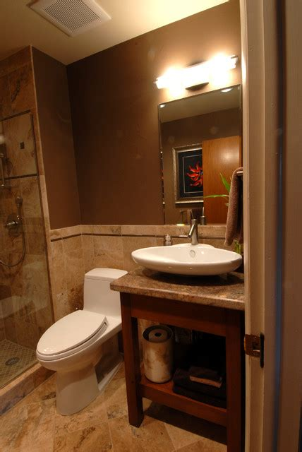 Modern And Natural Themed Bathroom  Asian Bathroom