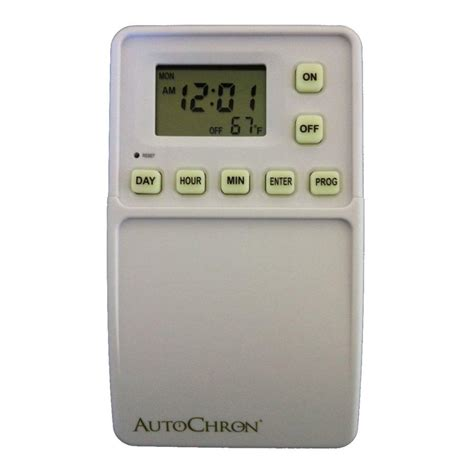 autochron wireless programmable wall switch timer white