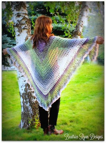 Crochet Shawl Angel Pattern Wing Grace Amazing
