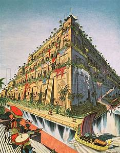 The Hanging Gardens of Babylon (Original Macmillan Poster ...