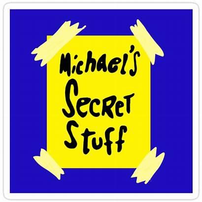 Secret Stuff Jam Space Michael Bottle Sticker