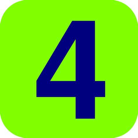 Green And Blue Number 4 Clip Art At Clkercom Vector