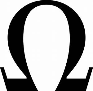 Greek Omega Small clip art Free vector in Open office ...