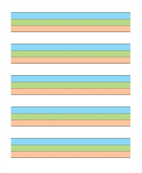 colored lined paper 26 sle lined paper templates free premium templates