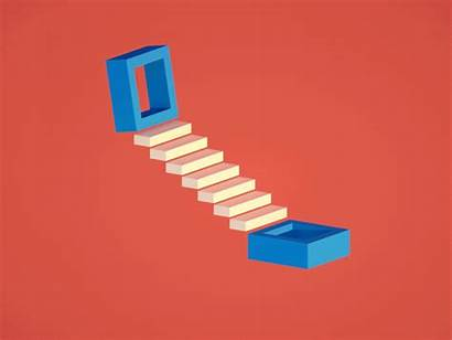 Steps Infinite Dribbble Animation Connect Loop 3d