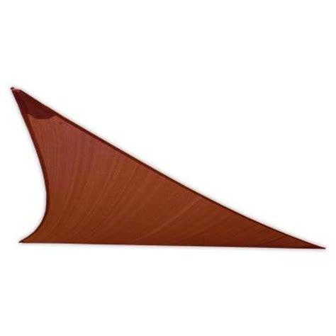 earthco shade sails 15 ft rust right triangle patio shade
