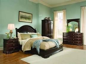 light green bedroom ideas  dark wood furniture