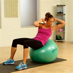 AB Workout Stability Ball Exercises