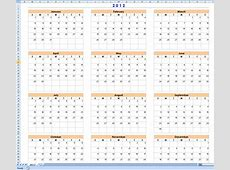 Template For Calendar With 12 Months On One Page