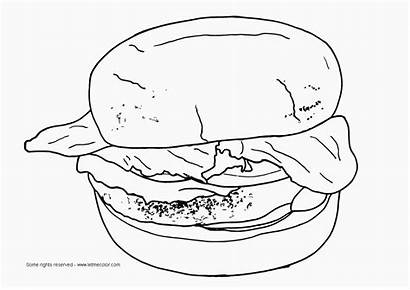 Coloring Burger Hamburger Printable Colorir Junk Fast