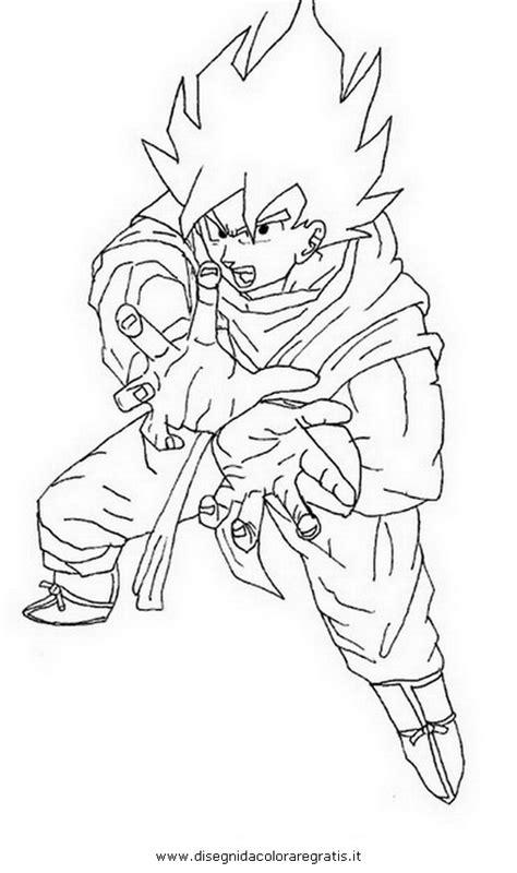 disegno goku kamehameha personaggio cartone animato da
