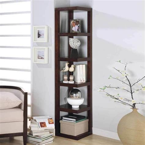 contemporary corner display  shelves rack bookshelf