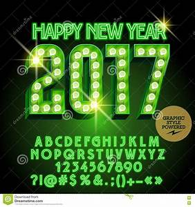 vector light up merry christmas 2017 greeting card stock With merry christmas light up letters