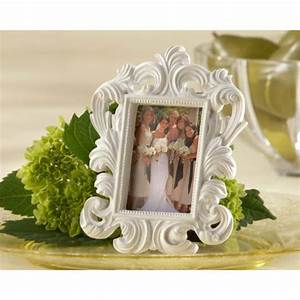baroque white frame place card holder paperstyle With wedding place cards photo frames