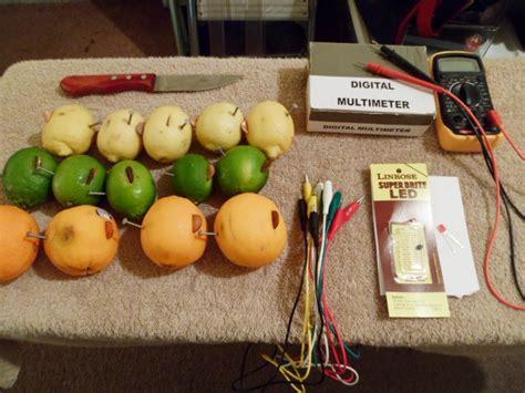 science fair project citrus fruit lemon lime orange
