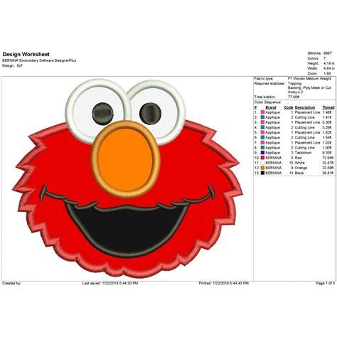 Elmo Applique by Elmo Applique Design