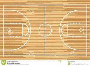 basketball court with parquet wood board vector stock With parquet de basket