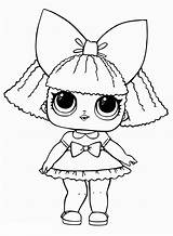 Lol Dolls Coloring Pages Surprise Baby Pieces Bow sketch template