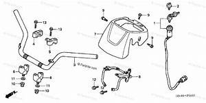 Honda Atv 2001 Oem Parts Diagram For Handlebar  2