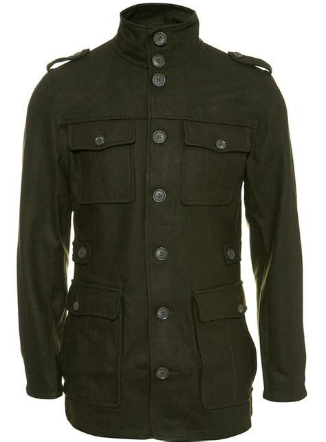 Dark Green Military Jackets for Men