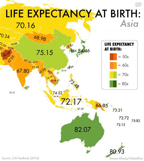 These maps reveal how long you probably have to live