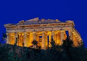 Parthenon at night by dr.michael - Pixdaus