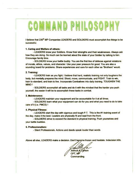pretty leadership philosophy template