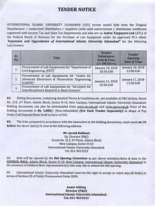 tenders international islamic university With tender documents 2017